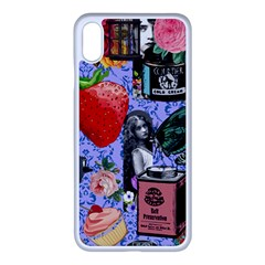 Vintage Girls Floral Collage Iphone Xs Max Seamless Case (white) by snowwhitegirl