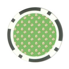 Happy Toast Green Poker Chip Card Guard