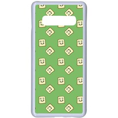 Happy Toast Green Samsung Galaxy S10 Plus Seamless Case(white)
