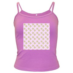Happy Toast Pink Dark Spaghetti Tank
