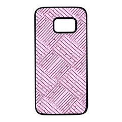 Wood Texture Diagonal Weave Pastel Samsung Galaxy S7 Black Seamless Case by Mariart