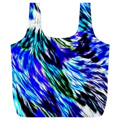 Abstract Background Blue White Full Print Recycle Bag (xl)