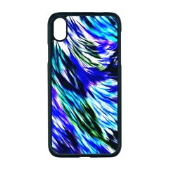 Abstract Background Blue White Iphone Xr Seamless Case (black)