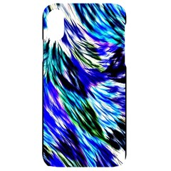 Abstract Background Blue White Iphone Xr Black Uv Print Case