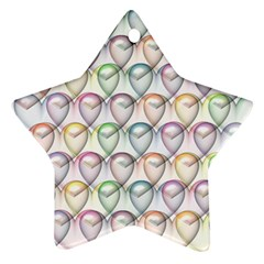 Valentine Hearts Ornament (star)