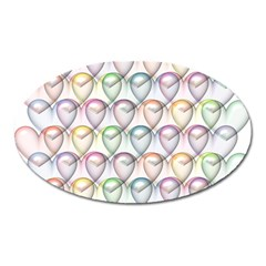 Valentine Hearts Oval Magnet by HermanTelo