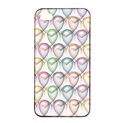 Valentine Hearts Iphone 4/4s Seamless Case (black)