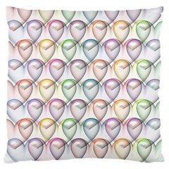 Valentine Hearts Large Cushion Case (two Sides)