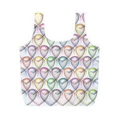 Valentine Hearts Full Print Recycle Bag (m)