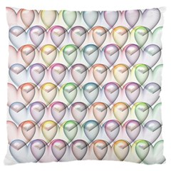 Valentine Hearts Standard Flano Cushion Case (two Sides)
