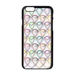 Valentine Hearts Iphone 6/6s Black Enamel Case