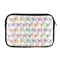 Valentine Hearts Apple Macbook Pro 17  Zipper Case