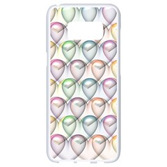 Valentine Hearts Samsung Galaxy S8 White Seamless Case