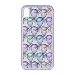 Valentine Hearts Iphone Xr Seamless Case (white)