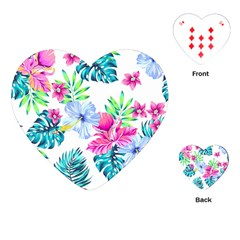 Fancy Tropical Floral Pattern Playing Cards Single Design (heart) by tarastyle