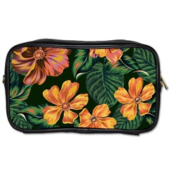 Fancy Tropical Floral Pattern Toiletries Bag (one Side) by tarastyle