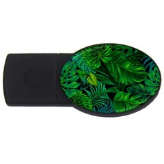 Fancy Tropical Floral Pattern Usb Flash Drive Oval (2 Gb) by tarastyle