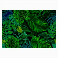 Fancy Tropical Floral Pattern Large Glasses Cloth (2 Sides) by tarastyle