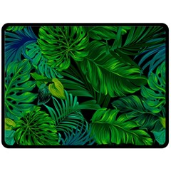 Fancy Tropical Floral Pattern Fleece Blanket (large)  by tarastyle