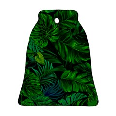 Fancy Tropical Floral Pattern Ornament (bell) by tarastyle