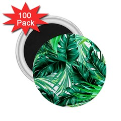 Fancy Tropical Floral Pattern 2 25  Magnets (100 Pack)  by tarastyle