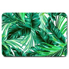 Fancy Tropical Floral Pattern Large Doormat  by tarastyle
