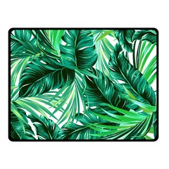 Fancy Tropical Floral Pattern Double Sided Fleece Blanket (small)  by tarastyle