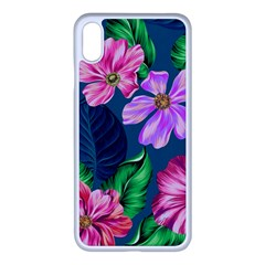 Fancy Tropical Floral Pattern Iphone Xs Max Seamless Case (white) by tarastyle