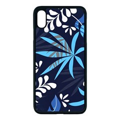 Fancy Tropical Floral Pattern Iphone Xs Max Seamless Case (black) by tarastyle