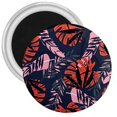 Fancy Tropical Floral Pattern 3  Magnets by tarastyle