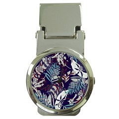 Fancy Tropical Floral Pattern Money Clip Watches by tarastyle