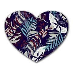 Fancy Tropical Floral Pattern Heart Mousepads by tarastyle