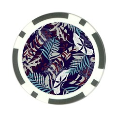 Fancy Tropical Floral Pattern Poker Chip Card Guard by tarastyle