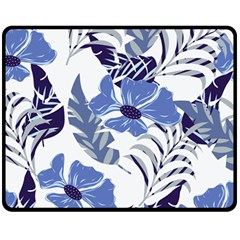 Fancy Tropical Floral Pattern Fleece Blanket (medium)  by tarastyle