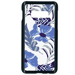 Fancy Tropical Floral Pattern Samsung Galaxy S10e Seamless Case (black)