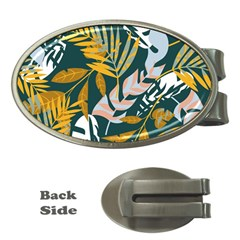 Fancy Tropical Floral Pattern Money Clips (oval)  by tarastyle