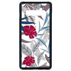 Fancy Tropical Floral Pattern Samsung Galaxy S10 Plus Seamless Case (black)