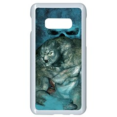 Aweome Troll With Skulls In The Night Samsung Galaxy S10e Seamless Case (white) by FantasyWorld7