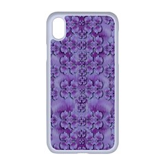 Baroque Fantasy Flowers Ornate Festive Iphone Xr Seamless Case (white) by pepitasart