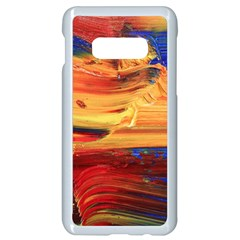 Rainbow Waves Samsung Galaxy S10e Seamless Case (white) by WILLBIRDWELL