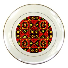 Abp1 Rby 1 Porcelain Plates by ArtworkByPatrick