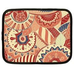 Pop Art Paisley Flowers Ornaments Multicolored 4 Netbook Case (large) by EDDArt