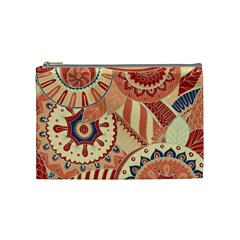 Pop Art Paisley Flowers Ornaments Multicolored 4 Cosmetic Bag (medium)