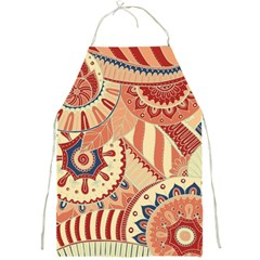 Pop Art Paisley Flowers Ornaments Multicolored 4 Full Print Apron
