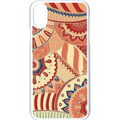 Pop Art Paisley Flowers Ornaments Multicolored 4 Iphone Xs Seamless Case (white) by EDDArt