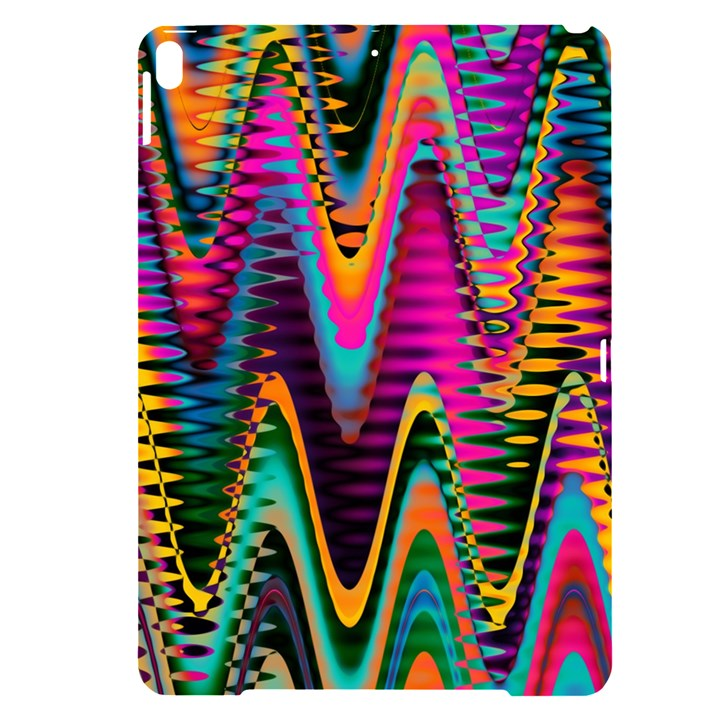 Multicolored Wave Distortion Zigzag Chevrons 2 Background Color Solid Black Apple iPad Pro 10.5   Black UV Print Case