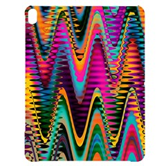 Multicolored Wave Distortion Zigzag Chevrons 2 Background Color Solid Black Apple Ipad Pro 12 9   Black Uv Print Case