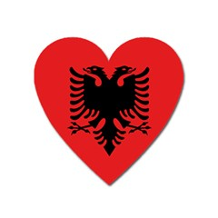 Albania Flag Heart Magnet by FlagGallery