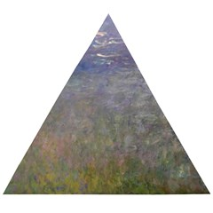 Claude Monet Water Lilies Wooden Puzzle Triangle