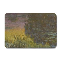 Claude Monet The Water Lilies Setting Sun Small Doormat  by ArtMuseum